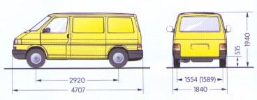 Vw transporter afmetingen